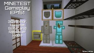 Minetest Gameplay Episode 151 - 3d Armor and Replacer Mods