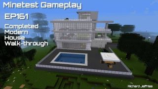 Minetest Gameplay Episode 161 Completed Modern House Walk-through