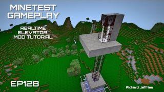 Minetest Gameplay EP128 Realtime Elevator Mod Tutorial