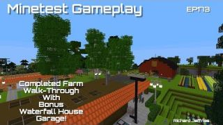 Minetest gameplay EP173 Completed Farm Walk-through!