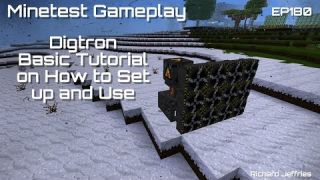 Minetest Gameplay EP180 - Updated Digtron Tutorial