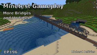 Minetest Gameplay EP196 More Bridges and Beach Update