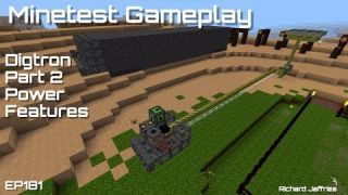 Minetest Gameplay EP181 Digtron Part2 More Features