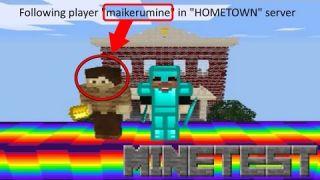 "Minetest - Following player ""maikerumine"" in ""HOMETOWN"" server"