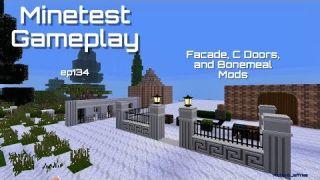 Minetest Gameplay EP134 C-Doors, Facade, and Bonemeal Mods