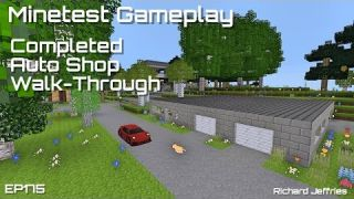 Minetest Gameplay Episode 175 Completed Auto Shop Walk-Through