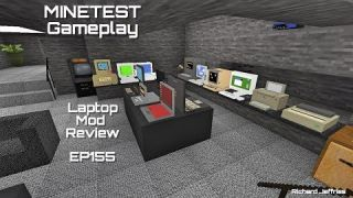 Minetest Gameplay Episode 155 - Laptop Mod and laptop Additions